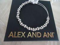 Authentic Alex And Ani Nile Rafaelian Silver Bangle W/ Tag Card & Box