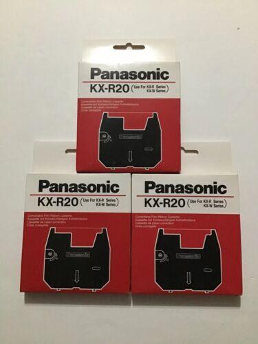 Panasonic KX-R20 Typewriter Correctable Film Ribbon Cassette Lot of 3 NEW