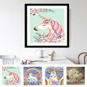 Details about Unicorn DIY 5D Diamond Painting Embroidery Cross Crafts  Stitch Kit Decor Art
