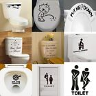 DIY Toilet Seat Wall Sticker Decals Vinyl Art Removable Bathroom Decor