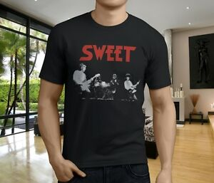 Hot New He Sweet Band Glam Classic Rock Band Men S Black T Shirt