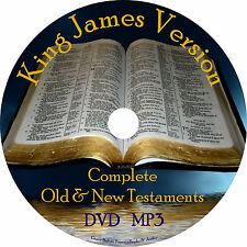 King James Version Audio Bible Christian KJV All 66 Books on 1 MP3 DVD Free Ship