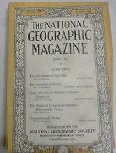 National-Geographic-June-1922-Rome-Capri-Constantinople-Free-Shipping