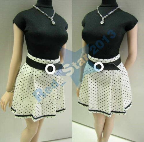 "PL06 1//6 Female Fashion Clothes Set T-shirt Dress Belt fit 12/"" Girl Figure Body"