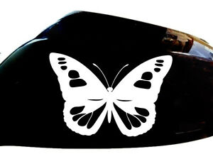 Butterfly Girl Car Stickers Wing Mirror Styling Decals (Set of 2), White