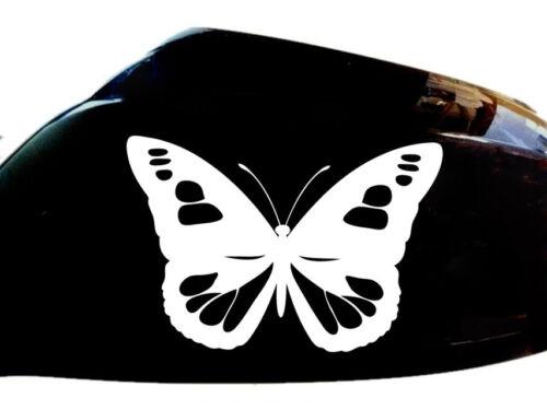 Blanco Espejo De Ala De Mariposa Niña Automóvil Pegatinas Calcomanías de estilo juego de 2