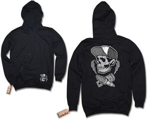 Skull Oldschool Hot Rod Biker Skull Screw Sweatshirt S-XXL Pullover