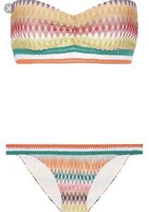 d78a036407 New Authentic Missoni Mare Crochet Knit 2 Piece Bandeau Bikini Set ...