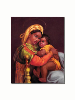 African American Black Angel Wall Picture Art Print