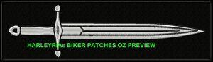 SILVER-DAGGER-BIKER-PATCH-300-X-80MM