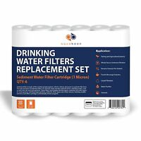 Aquaboon 1 Micron Sediment Water Filter Cartridge 6 Pack, New, Free Shipping on sale
