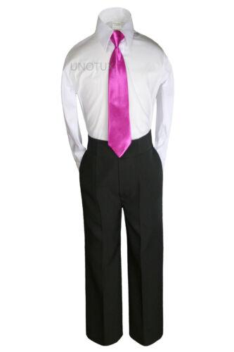 Baby Kid Teen Boys Wedding Formal 3pc Shirt Pants Necktie Set Suit Separate 5-14