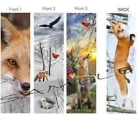 3-red Fox Bookmark Winter Art Animals Snow Rabbit Weasel Bird Book Card Ornament