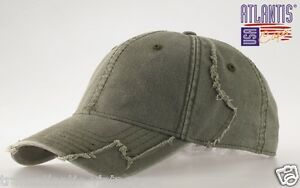 ATLANTIS-USA-HURRICANE-BASEBALL-CAP-ARMY-VINTAGE-DESTROYED-MILITARY-COTTON-HAT