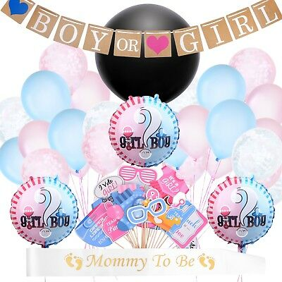 94 Pieces Gender Reveal Party Supplies and Baby Shower Boy or Girl Kit