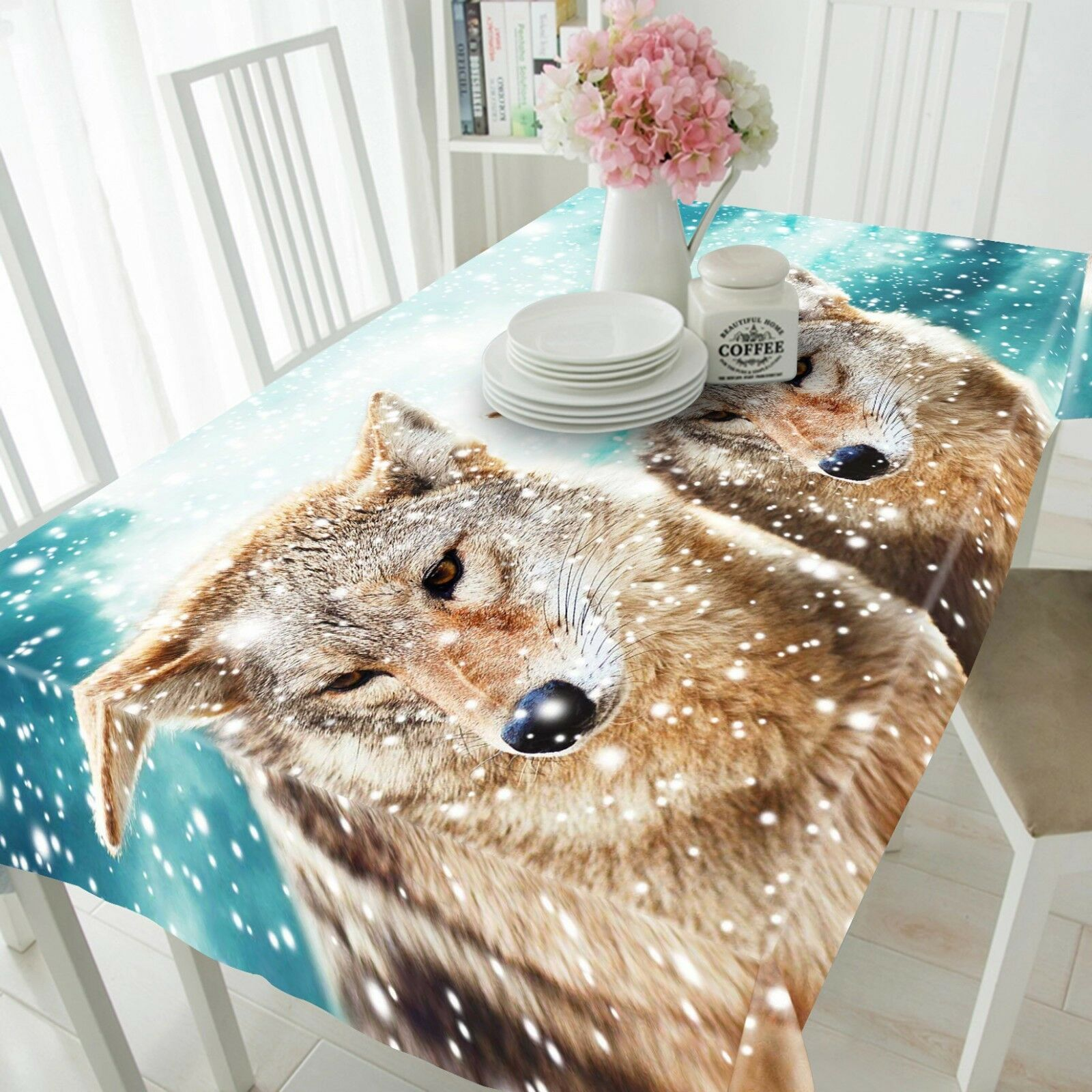 3D Snow Animals 061 Tablecloth Table Cover Cloth Birthday Party Event AJ Lemon