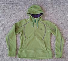 The North Face TKA Micro Fleece 1/2 Zip Hoodie Jacket Green Purple Women's M