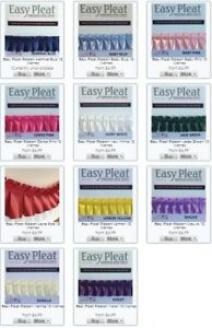 Easy Pleat Ribbon 10 Metre Length PrePleated for Funeral