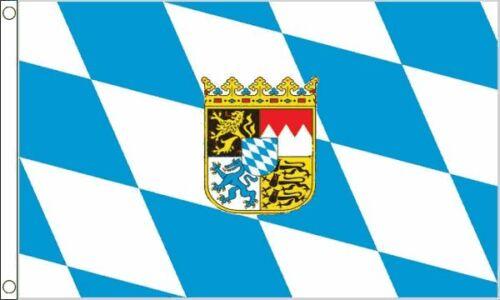 Flag Banner Bavaria Crest Flag 3ft x 2ft 90cm x 60cm