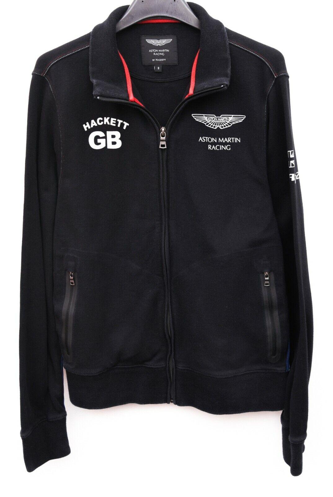 ASTON MARTIN RACING Men's S Zip Up Jumper Sweatshirt Black Sweater Cotton Top