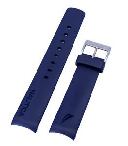 Nautica-Men-039-s-N12627G-A12627G-NST-07-Flag-Blue-22mm-Original-Watchband-Strap