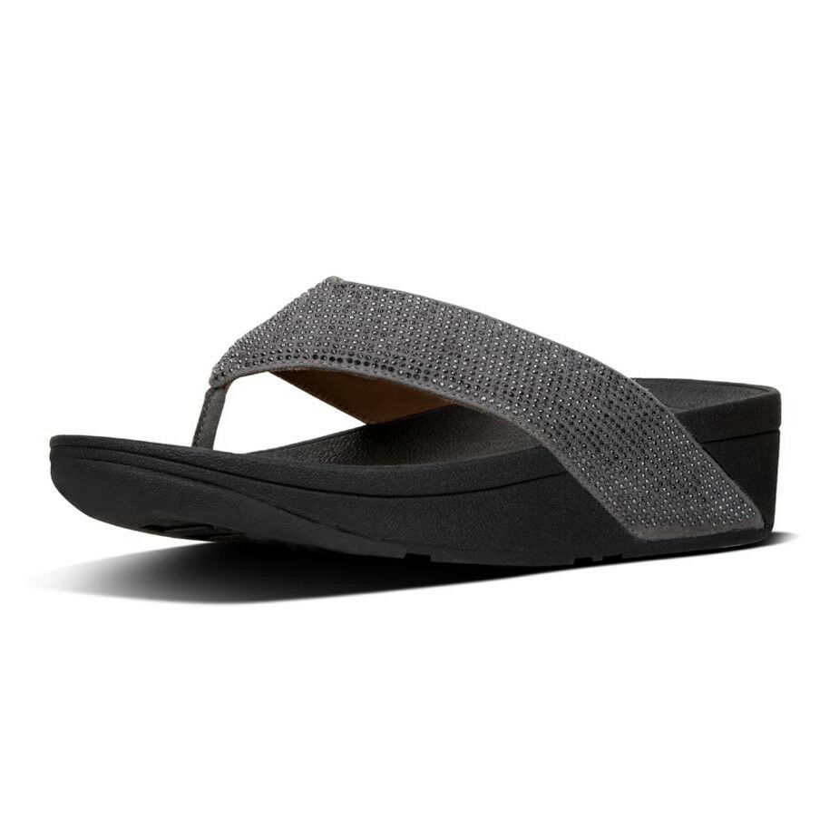 Infradito women FIT FLOP color peltro + microcristalli RITZY TOE-THONG L23-054