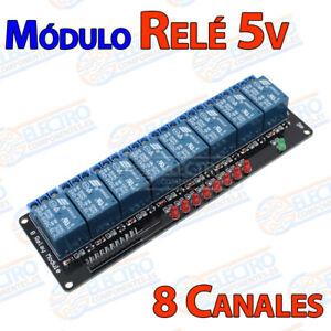MODULO RELE 5V 8 CANALES Arduino placa PIC aislado channels 8 reles