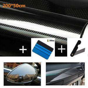 Pellicola Wrapping Carbonio 5D EXTRA LUCIDO 50x200cm alta qualità kit completo