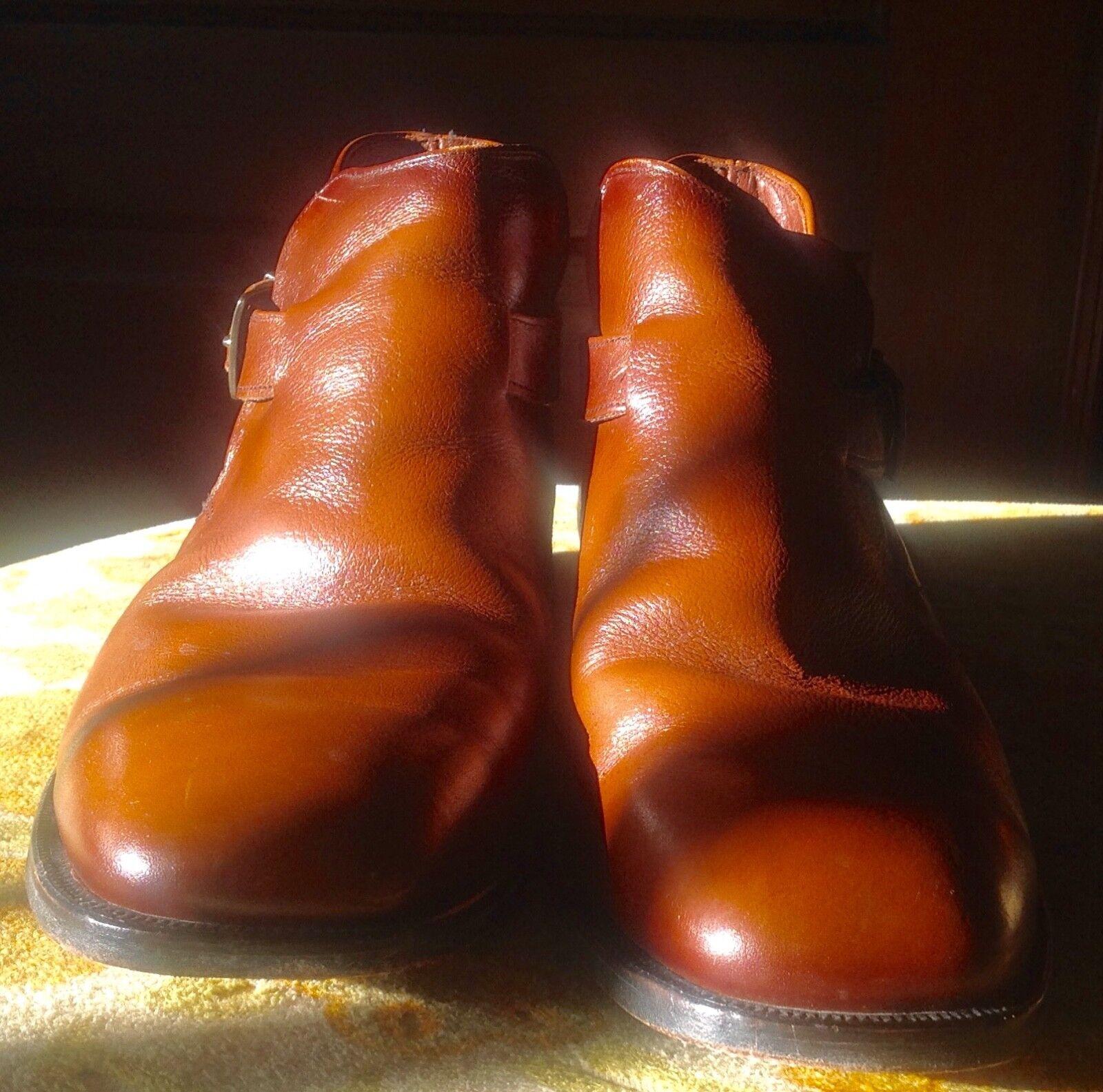compra meglio Vtg  Mason Mason Mason Leather Classic Marrone Buckle Strap Uomo Leather Chuka stivali scarpe 9.5  garantito