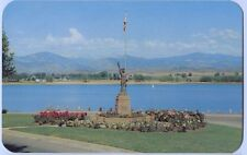 1950s Boy Scout Monument & Lake Loveland Colorado Postcard