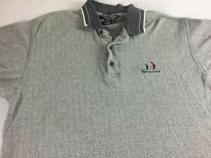 Hilton Head Polo Shirt VTG 90s Mens Large Gray South Carolina Island Golf Ocean