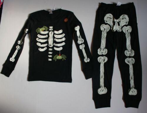 NEW Gymboree Outlet Boys Skeleton Halloween Gymmies PJs Black 3 4 5 6 7 8