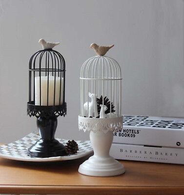 vintage kerzenst nder kerzenhalter vogelk fig wei schwarz. Black Bedroom Furniture Sets. Home Design Ideas