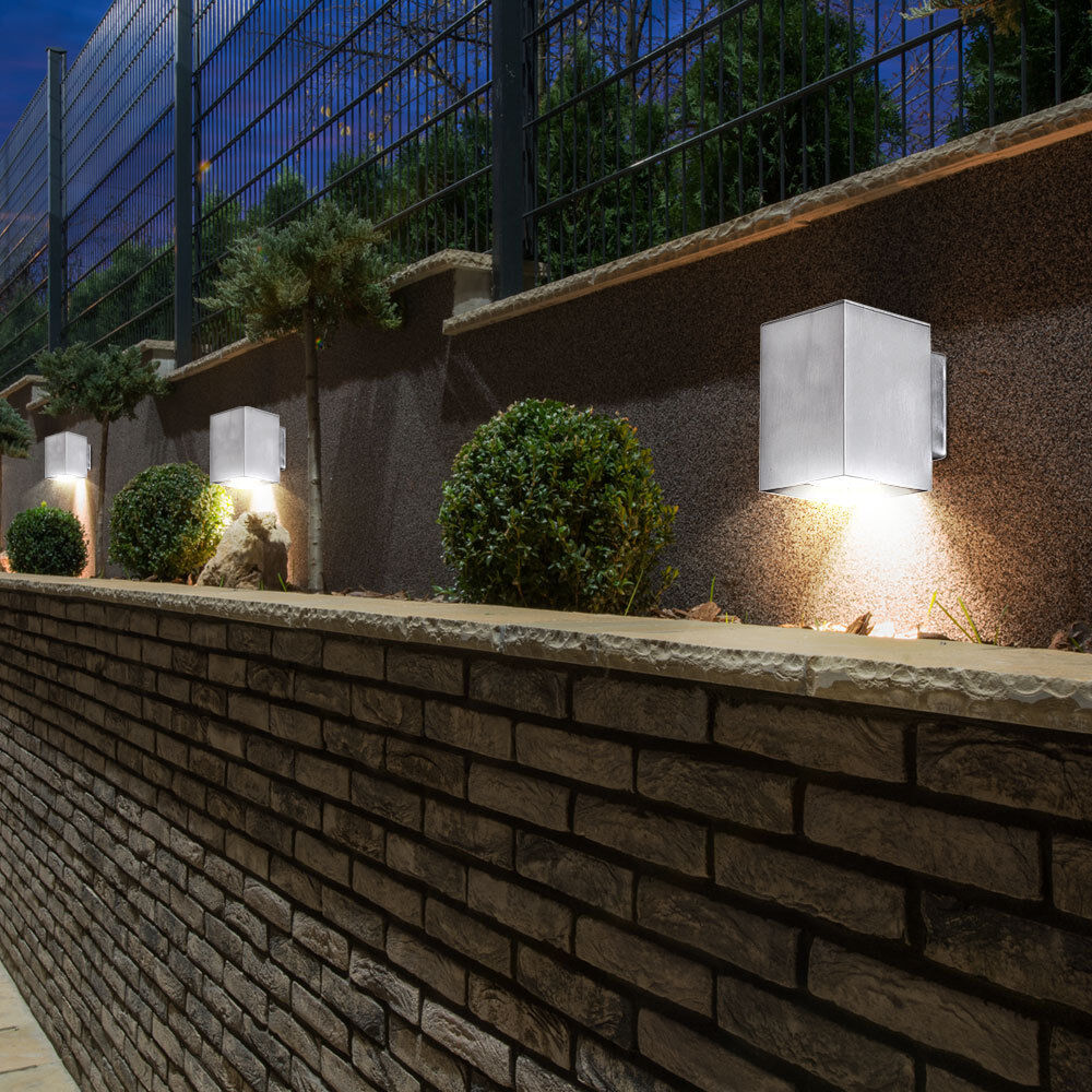 3er Set LED Haus Wand Leuchten Veranda Außen Beleuchtungen Balkon Living-XXL