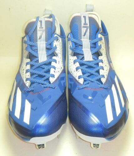 New Kris Bryant Game Issued PE Adidas Baseball Cleats Size 13.5 Cubs Blue Red