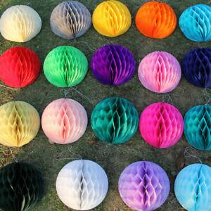 5Pcs-Papier-Lanterne-Honeycomb-Balls-Tissu-Pompon-Mariage-Fete-Pendaison-Decoration