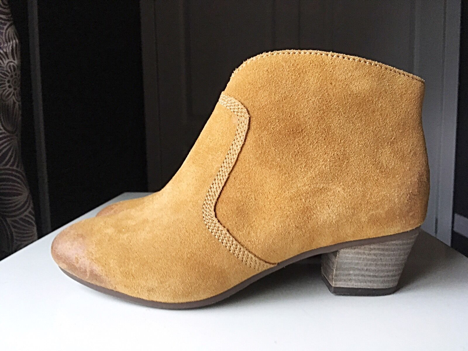 Clarks Softwear Cuir Femmes Femmes Bottines Talon Haut Chaussure Botte Taille 4 37 D