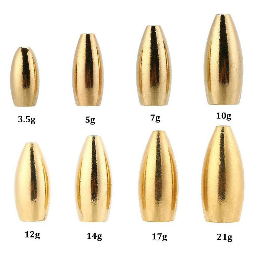 Fishing Sinkers Set Brass Sinker Weights Jig Hook Swivel Ring Connector Welcome Fishing