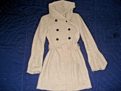 Manteau boutonnage et Basic double en laine Zara beige à tricot en qgnS4z5