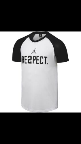 New Nike Dri Fit Jordan Jeter RE2PECT T-Shirt 897833-103 White Size M