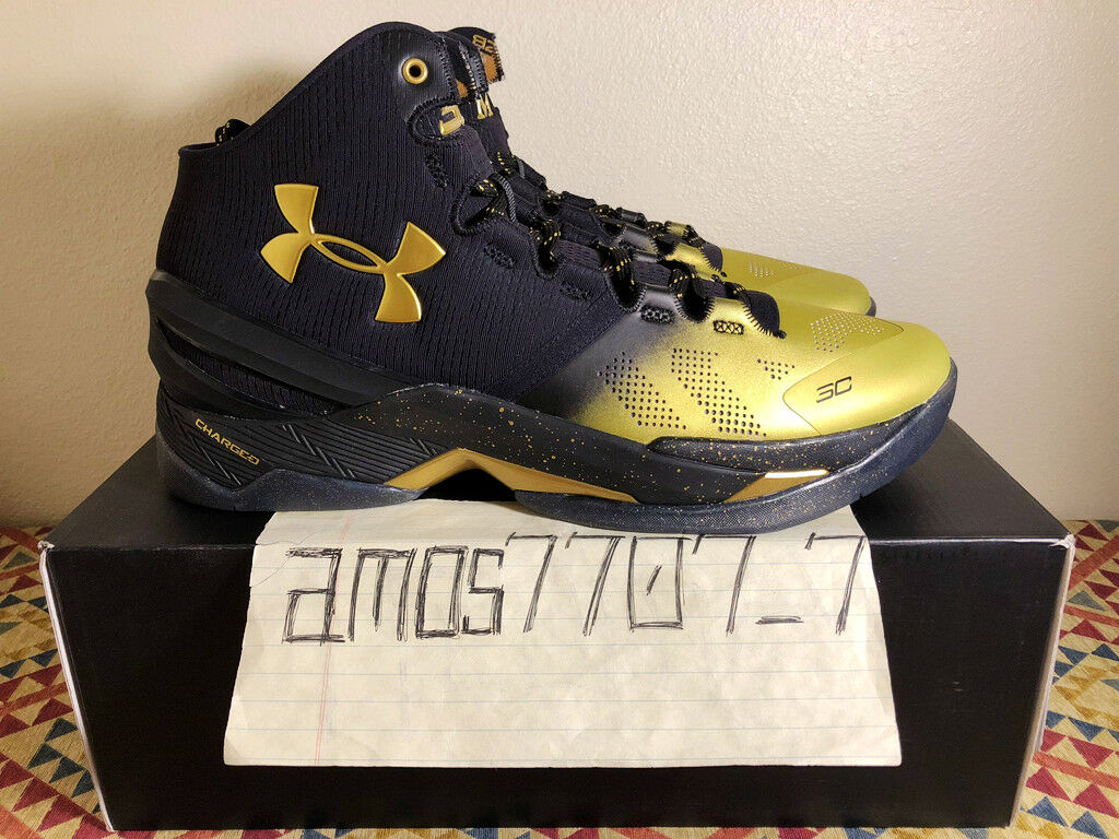 Under Armour Curry 1 2 B2B MVP Back 2 Back White Gold 1300015 001 Size 11.5 12.5