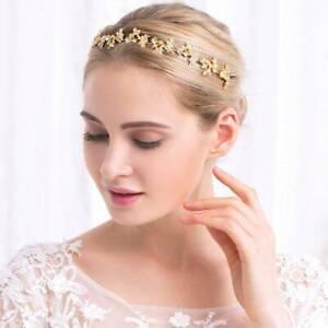 Bridal Crown Headband Alloy Rhinestone Leaves Hair Band Wedding Headwear TOP