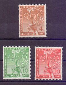 Berlin-1952-Vor-Olympiade-MiNr-88-90-postfrisch-Michel-30-00-086