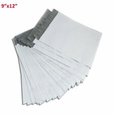 100 9x12 Mailing Bags Envelopes White Plastic Poly Mailers Self Sealing 25 Mil