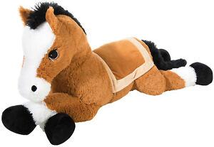 XXL-Pluesch-Pferd-liegend-Pony-Reitpferd-Plueschtier-Kuscheltier-Stofftier-100-cm