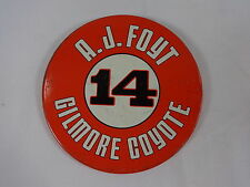 1970's #14 A.J. Foyt Gilmore Coyote Collector Button Indy 500