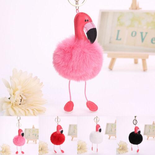 Fashion Pink Flamingo Women/'s Handbag Keychain Handbag Pendant Keyring Charm