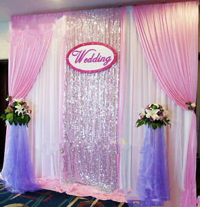 New wedding stage background decoration welcome curtains for Background curtain decoration