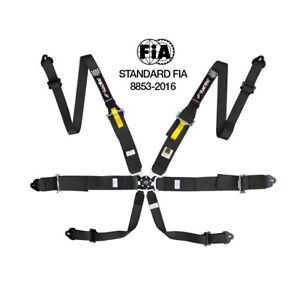 4 Puntos Cintur/ón de Seguridad para Coche SIMONI RACING RSB//1N Color Negro