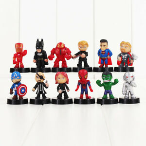 Cool Super Hero Avengers Set Of 12 1 1 2 Birthday Cake Topper Funny Birthday Cards Online Unhofree Goldxyz